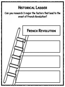 Worksheets French Revolution Worksheets french revolution facts information worksheets lesson plans ladder