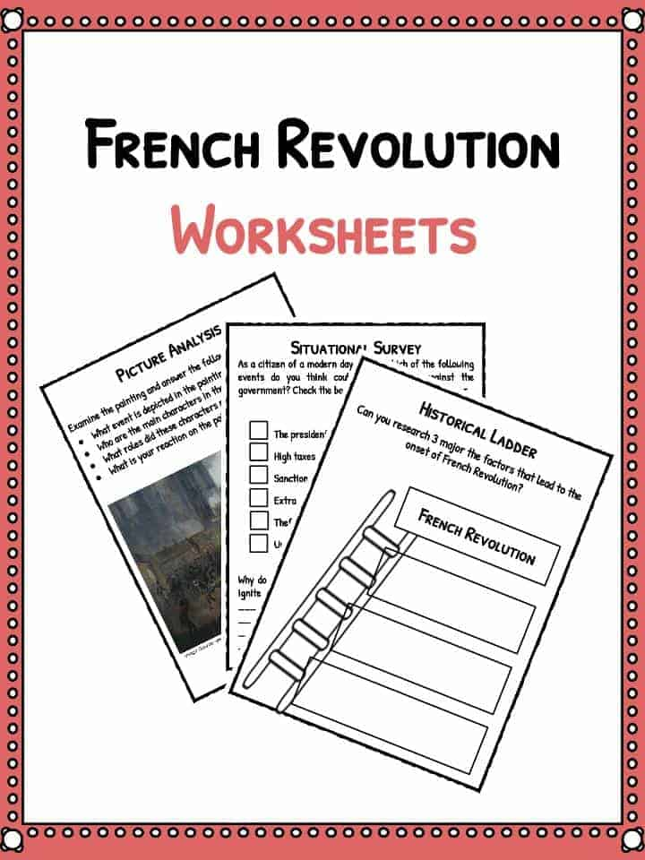 French Revolution Facts Information Worksheets – French Revolution Worksheet
