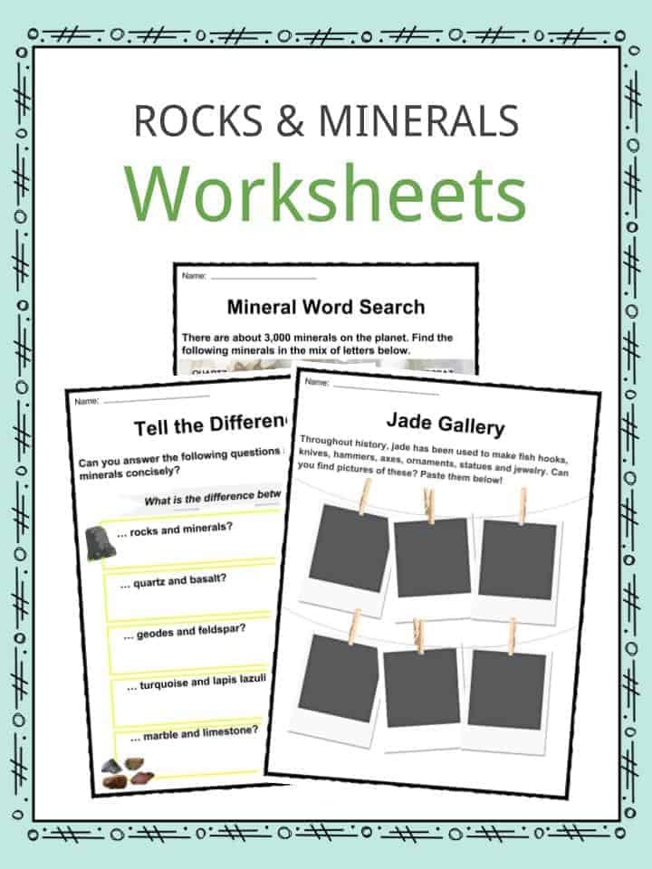Rock And Mineral Facts Worksheets Formation Much More For Kids