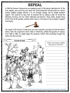 Worksheets Missouri Compromise Worksheet missouri compromise facts worksheets historical information for the was important us history as it helped to regulate slavery and one of contributing factors towards the