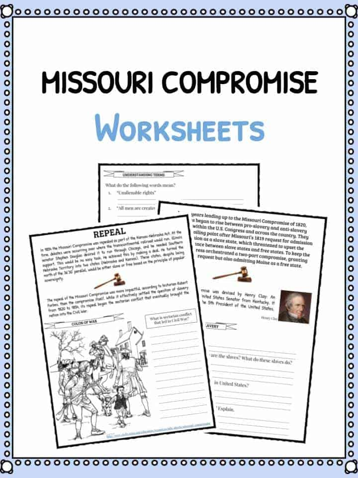missouri compromise facts worksheets historical information for kids. Black Bedroom Furniture Sets. Home Design Ideas