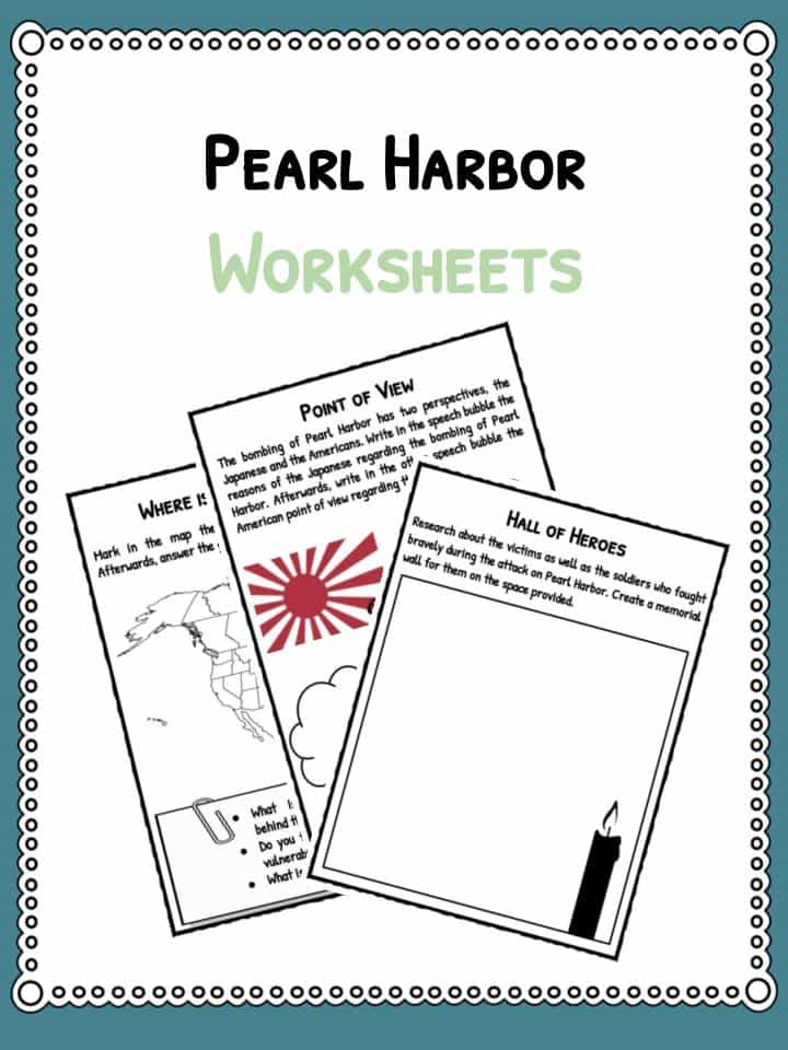 Pearl Habor Facts Information Worksheets Resource For Kids – Pearl Harbor Worksheet