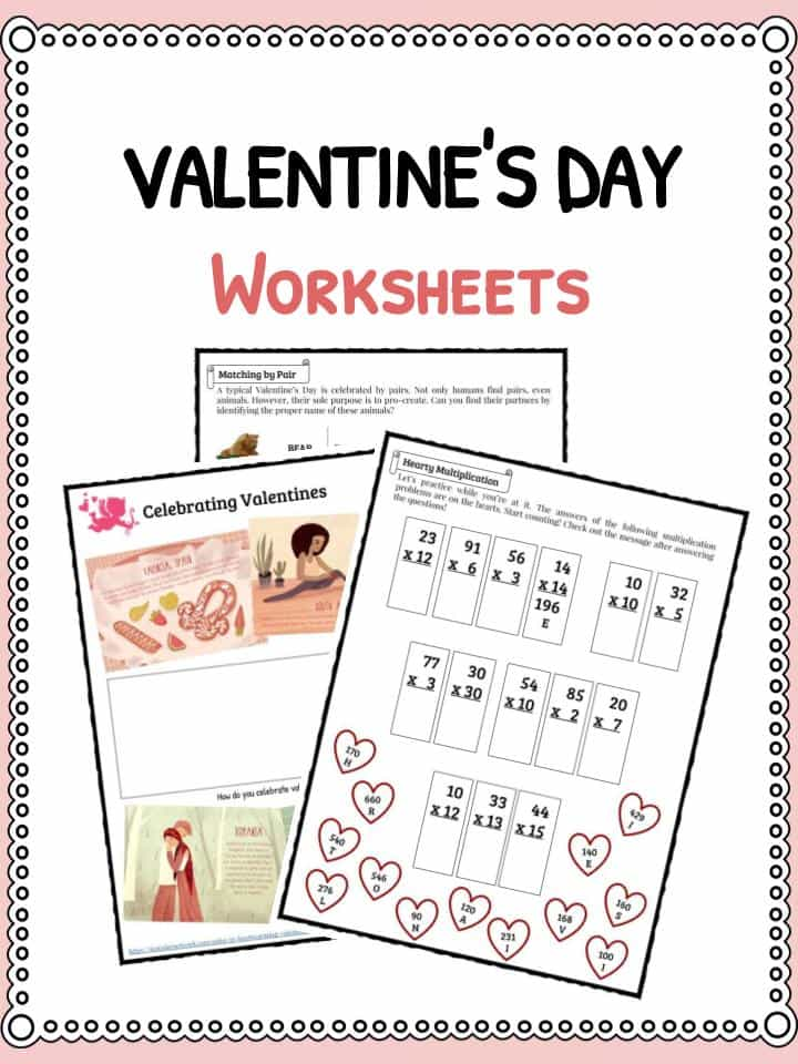 Valentines Day Facts & Worksheets | KidsKonnect