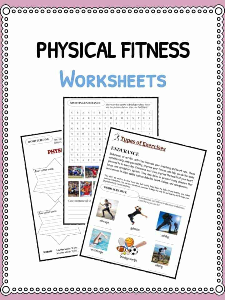Physical Fitness Facts Worksheets Information For Kids – Related Facts Worksheet
