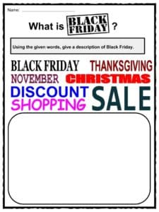 Black Friday Facts Worksheets Information History For Kids