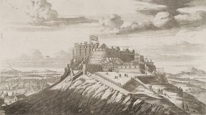 The north-east view of Edinburgh Castle in the 17th century.