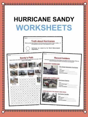 Hurricane Sandy Worksheets