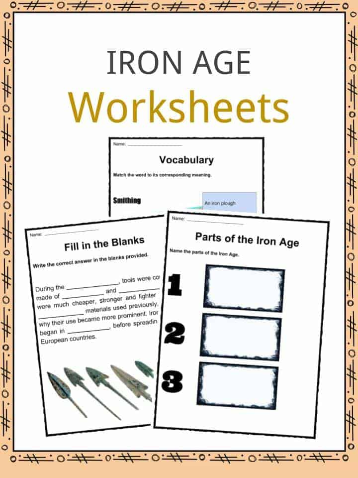 Iron Age Facts Worksheets Information History For Kids Studies