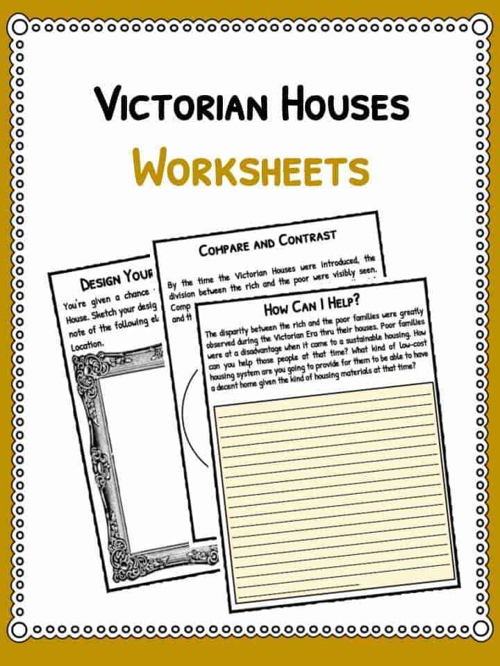 Victorian House Facts Information Worksheets For Kids