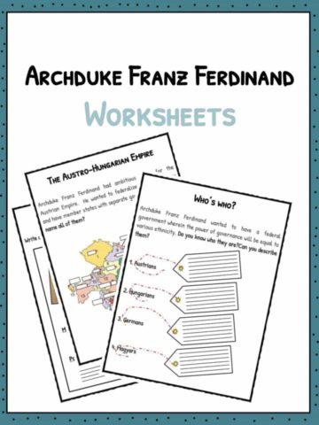 Archduke Franz Ferdinand Worksheets