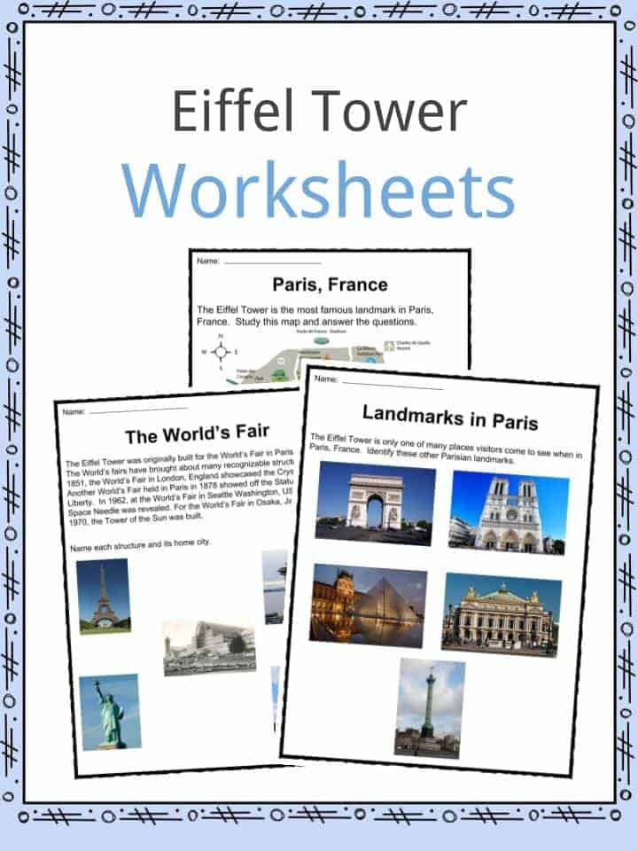 Eiffel Tower Worksheets