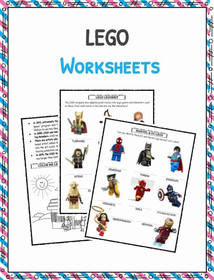 LEGO Fun Facts Worksheets Historical Information For Kids – Modern Marvels Worksheets