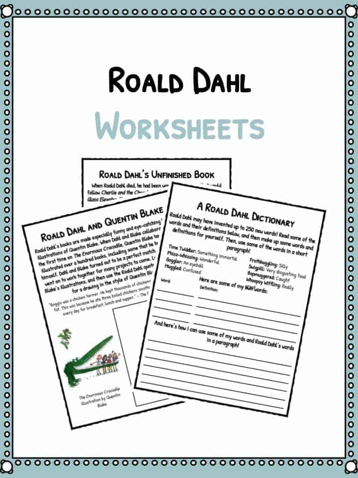 Roald Dahl Facts Information and Worksheets – And Worksheets