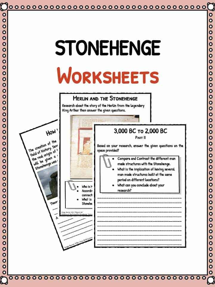Stonehenge Facts Worksheets School Teacher Resources