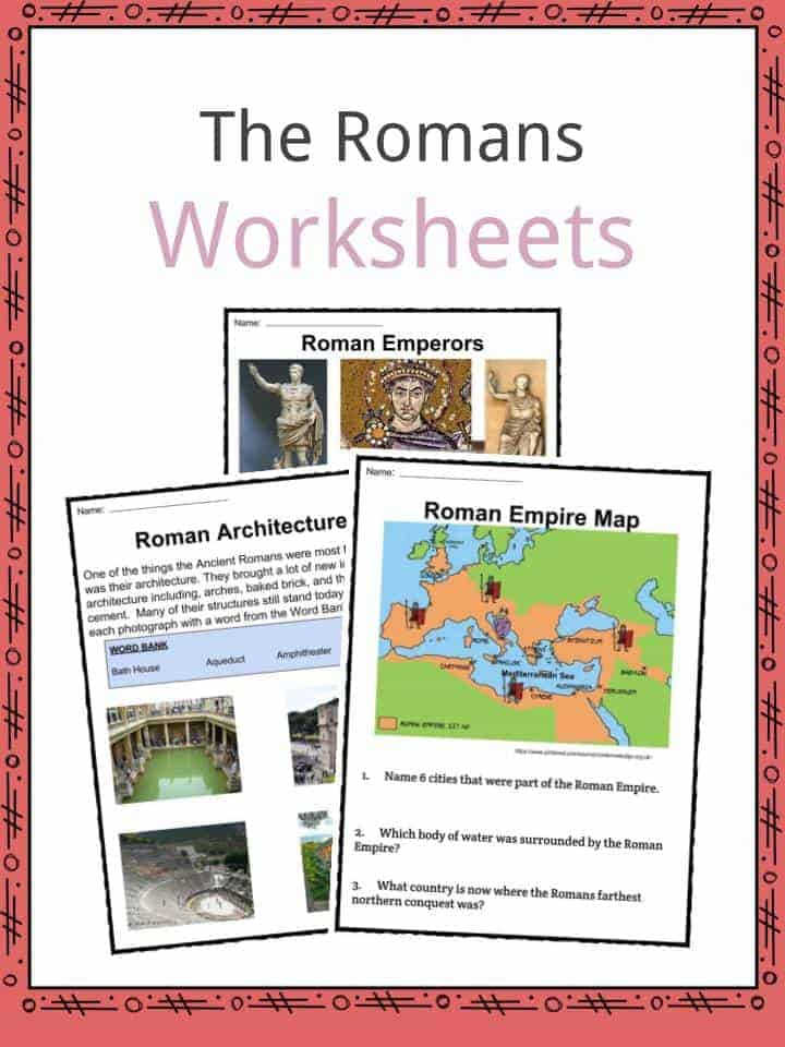 The Romans Facts Worksheets Empire Information For Kids – Ancient Rome Map Worksheet