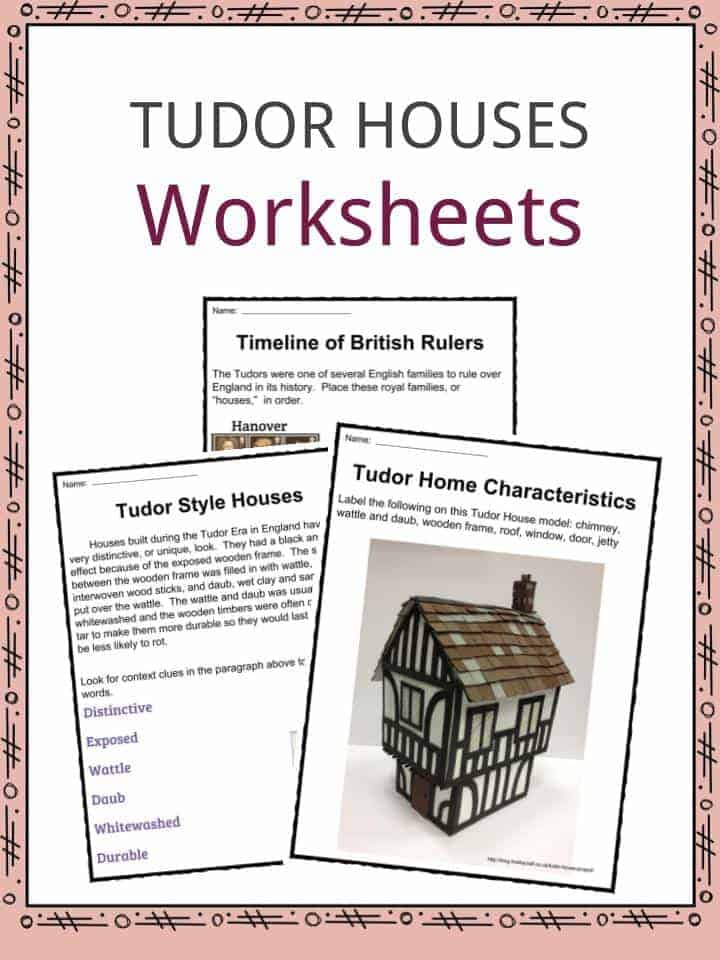 The Tudor Houses Facts Worksheets