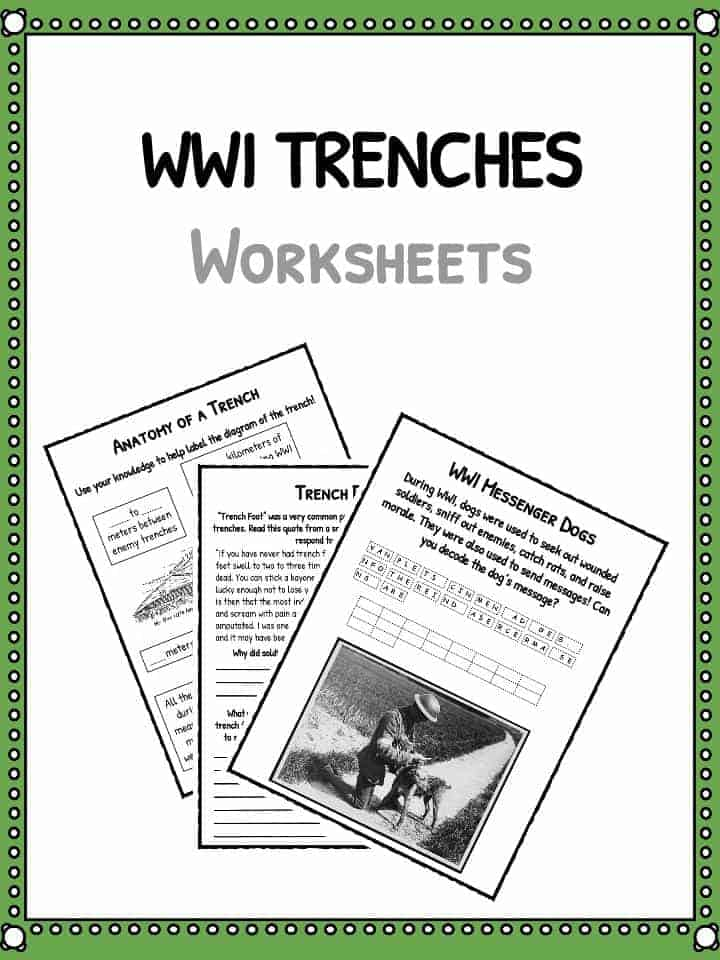 WW1 Trenches Facts About World War I Trench Warfare Worksheets – World War 1 Worksheets