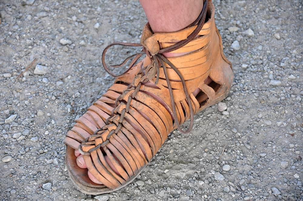 Roman military sandals Wikimedia