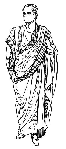 A classic Roman toga.