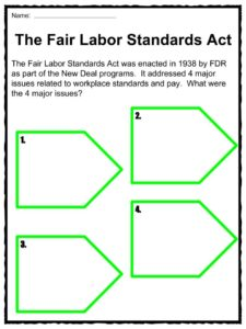 the fair labor standards act flsa facts worksheets for kids. Black Bedroom Furniture Sets. Home Design Ideas