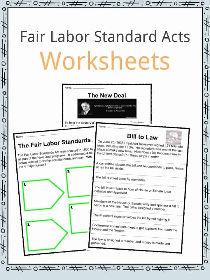 The Fair Labor Standard Acts Worksheets