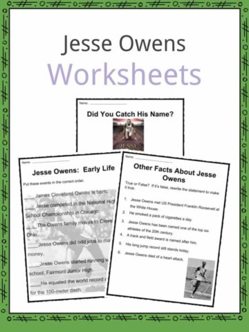 Jesse Owens Worksheets