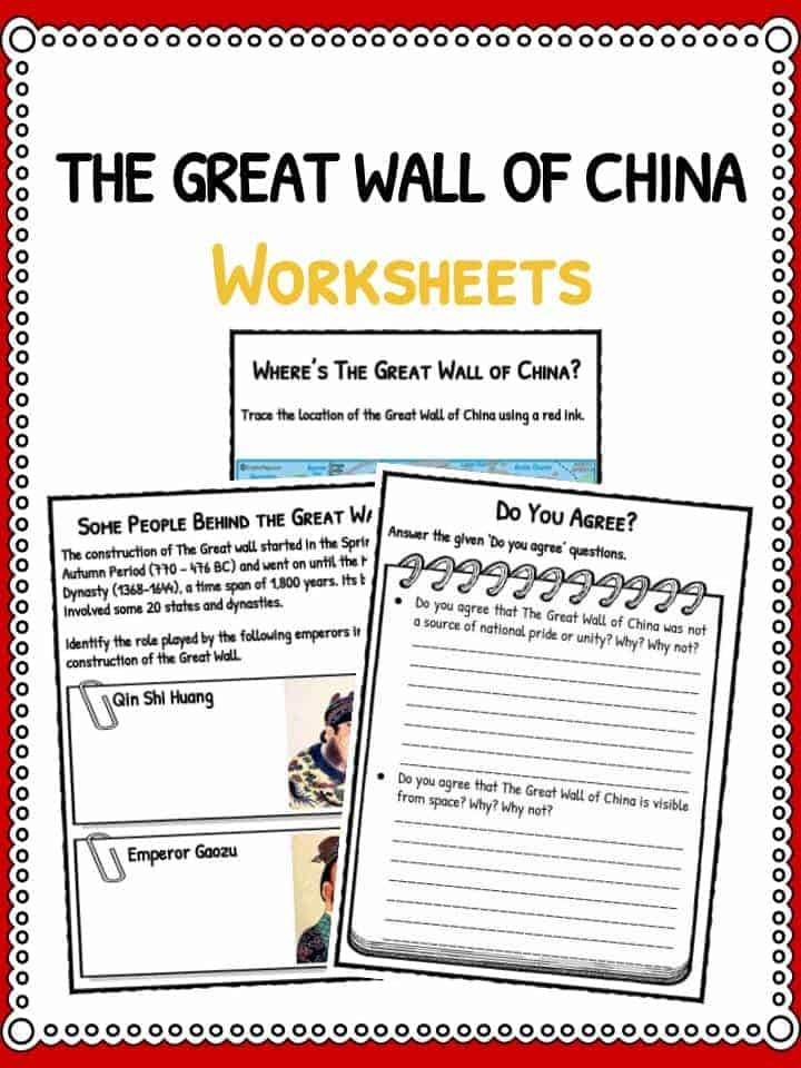 Worksheets For China : The great wall of china facts worksheets timeline for kids