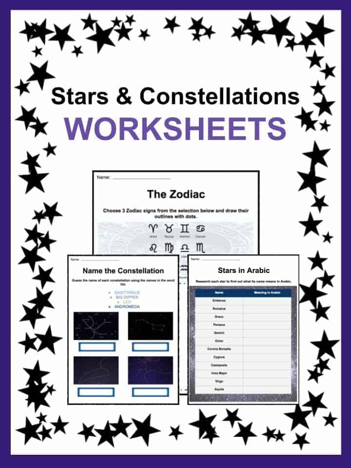 Space Astronomy Worksheets Lesson Plans Study Material For Kids – Constellations Worksheets
