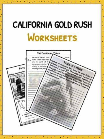 California Gold Rush Worksheets