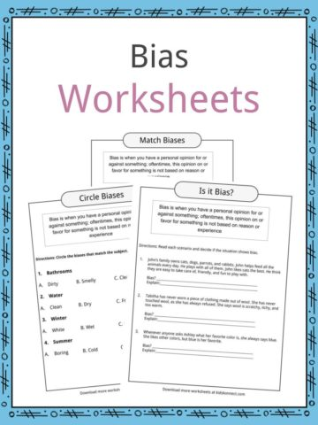 Bias Worksheets