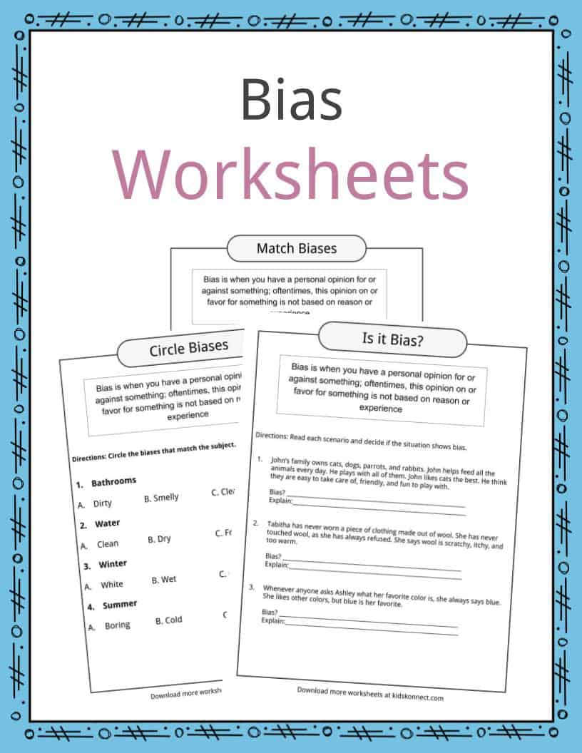 Bias Worksheets