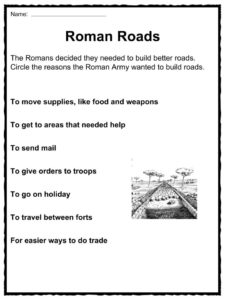 Roman Roads Facts Worksheets History For Kids