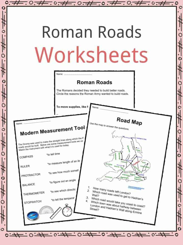 Roman Roads Facts, Worksheets & History For Kids