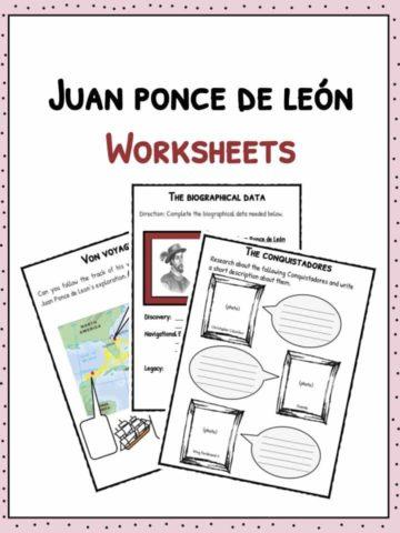 Juan Ponce de Leon Worksheets