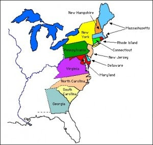 13 colonies facts