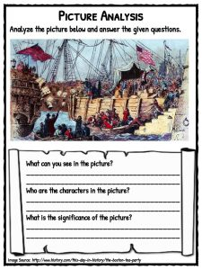 Boston Tea Party Facts, Information & Worksheets For Kids