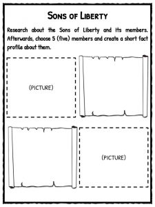 boston tea party facts information worksheets for kids sons of liberty
