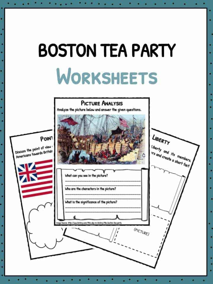 boston tea party facts information worksheets for kids. Black Bedroom Furniture Sets. Home Design Ideas