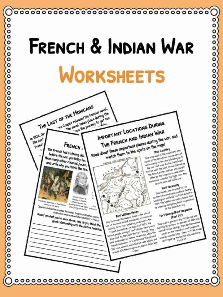 french indian war facts worksheets for kids seven years war. Black Bedroom Furniture Sets. Home Design Ideas