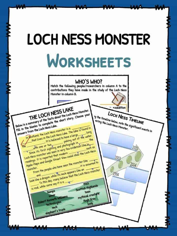 Loch Ness Monster Worksheets