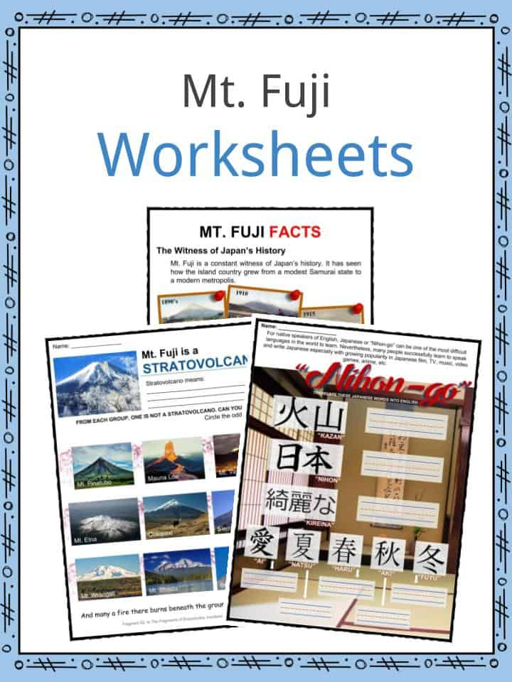 Mount Fuji Facts, Worksheets, Information & Location For Kids