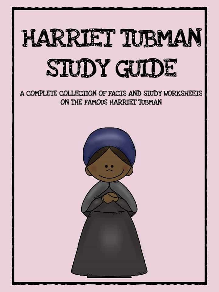 Harriet Tubman Study Guide Printable PDF Worksheet – Harriet Tubman Worksheets