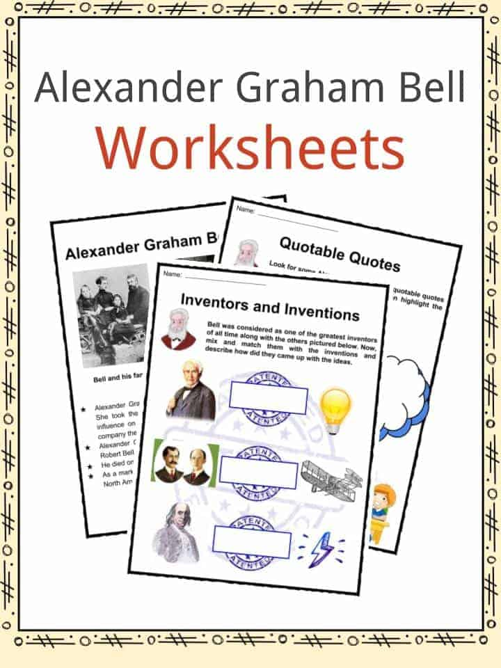 Alexander Graham Bell Worksheets