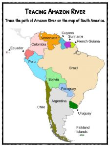 Amazon River In South America Map.Amazon River Facts Worksheets Historical Information For Kids