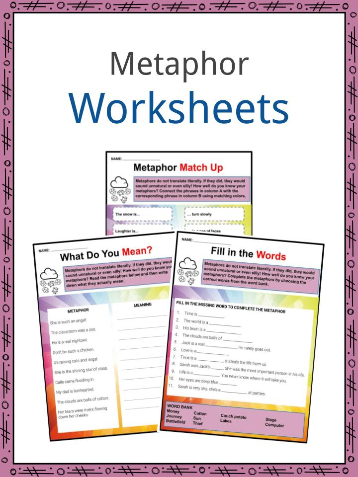 Metaphors Of Everyday Life Many Lives >> Metaphor Examples Definition And Worksheets What Is A Metaphor