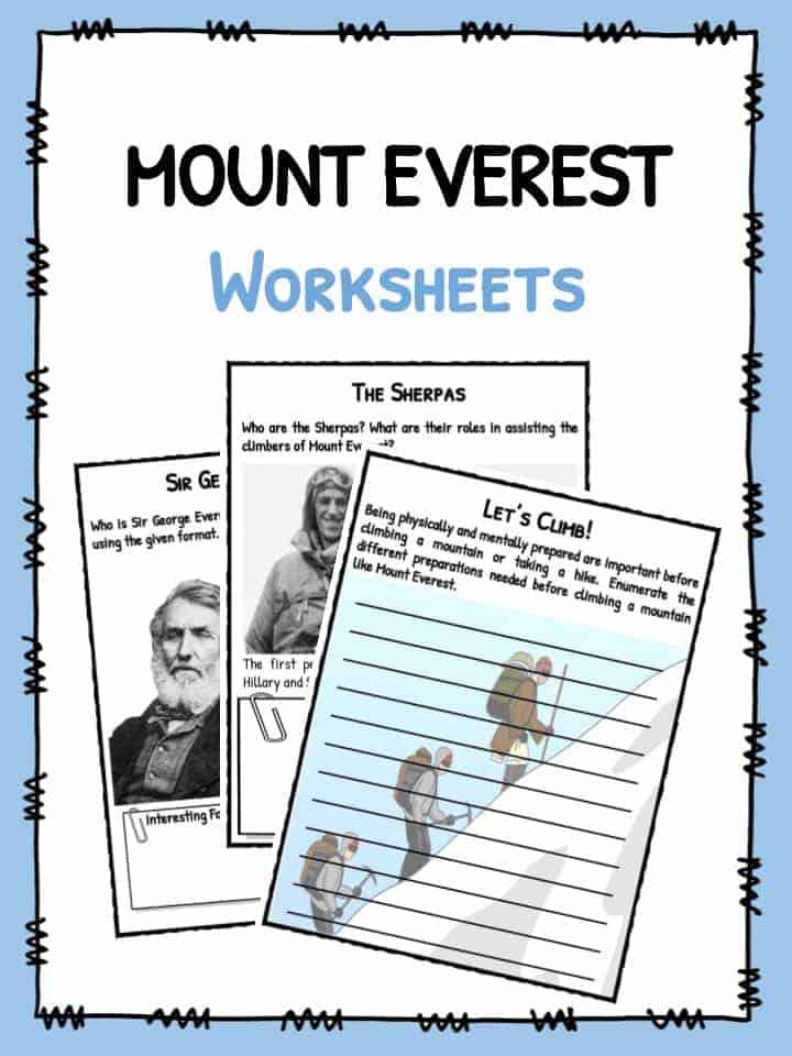 Mount Everest Worksheets