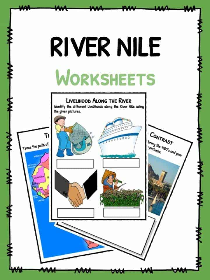 parts of a river Interactive worksheets