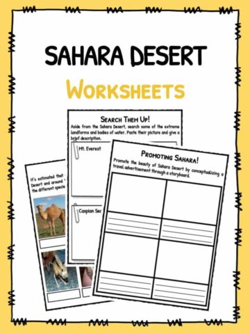 Sahara Desert Worksheets