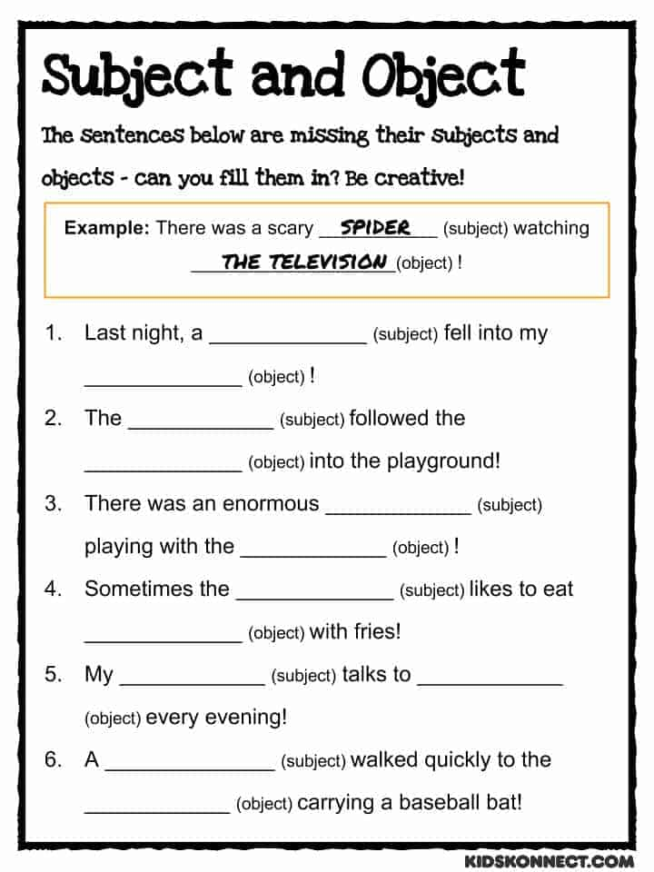 Printables Grammar Worksheets For Kids us history worksheets lesson plans study material for kids subject object worksheet