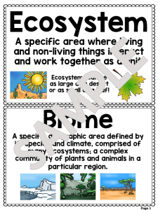 Biomes & Ecosystem Worksheet Unit Plan for Teachers